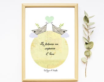 Card Poster Friendship - Amicizia