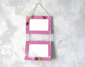 Double pink picture frame