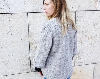 Crochet PATTERN-  The Grace Cardigan Sweater Pattern- Chunky Crochet Cardigan Pattern
