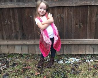 PATTERN for Abby's Sweater Vest, Crochet Patten ONLY. Child size 4/5