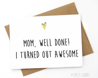 Funny Mother's Day Card, Inappropriate Mothers day card