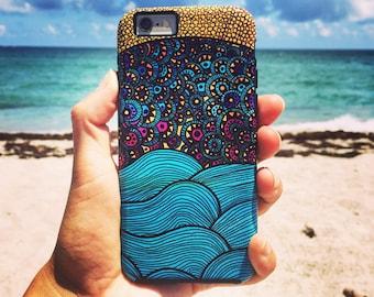 Whimsical Ocean Art Phone Case for iPhone X, 8, 7, 6, 5, 5c & Samsung Galaxy S7, S8