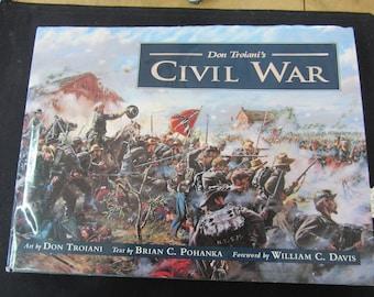 Civil War - Don Troianis Signed 1st Edition Civil War Artist Illustration Book