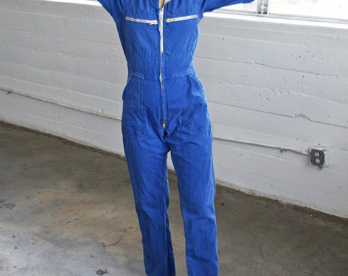Blue Corduroy Coveralls