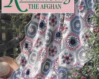 Romancing the Afghan, 10 Crochet Afghan Designs, Leisure Arts Leaflet 2881 with Color Photos, 1996 Vintage Afghan Pattern Book