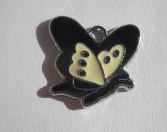 charm Butterfly-shaped colorful metal 2 cm large (106)
