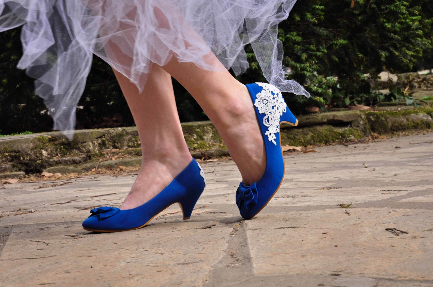 Wedding shoes blue wedding shoes royal blue low heels zoom junglespirit Image collections