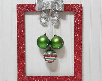 Christmas Wreath - Picture Frame Wreath