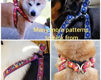 "1/2"" width, Dog harness, pet harness, step in dog harness, adjustable harness, extra small harness, small harness, cute dog harness"