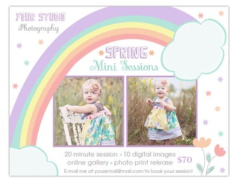 Spring/ Summer Mini Session Template for Photographers INSTANT DOWNLOAD