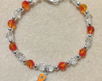 Victoria Kidney Cancer Awareness Swarovski Bracelet