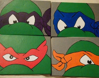 Teenage Mutant Ninja Turtle Acrylic Paintings Set