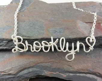 Personalized Name Necklace, Any Name Up To 9 Letters, Word Necklace, Name Jewelry