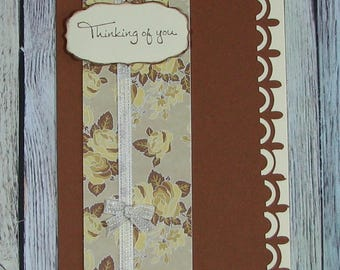 Brown and Cream Thinking of You card--CB81217-30