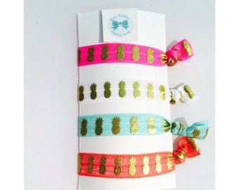 Individual pineapple  hair ties