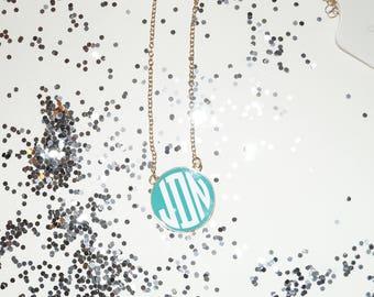 Monogrammed Pendant Necklace