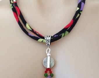 """Textile Necklace """"Pendant""""-SALE"""