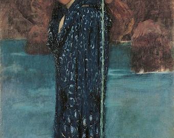 Circe Invidiosa by John William Waterhouse ~ 1892 ~ Giclee Print - Greek Mythology -Mystical - Wiccan ~ Goddess - Supernatural Wall art