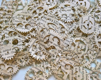 Steampunk Paper Gears /Chronology Cogs / Gears confetti / table confetti for weddings parties (pack of 180)