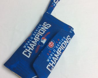 Batter Up Chicago Cubs 2016 World Series Champions Cell Phone Wallet