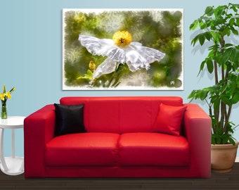 White Angel Flower Wrap