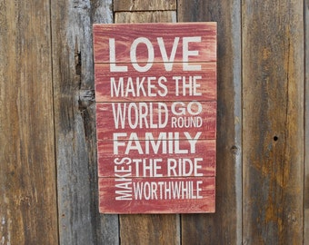Love Makes The World Go Round Gallery Wall Sign