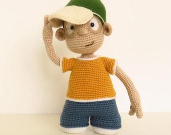 OOAK art doll - Articulated doll - Amigurumi doll - Crochet doll - Graffiti Artist / MARIO