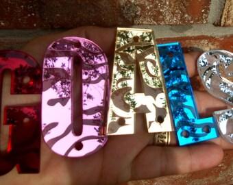 Snapback letters,3D letters,Impact,snapback hats,mirror letters,laser cut letter,zebra letters,alphabet,acrylic letters