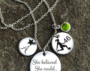 Soccer Necklace, Soccer Jewelry, Soccer Necklace for Girl, Soccer Charm Necklace, Girls Soccer Necklace, Girls Soccer Gifts, Soccer Gifts