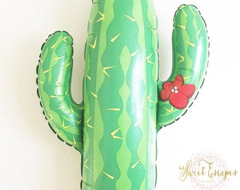 Cactus Balloon~ Palm Springs Party ~ Fiesta Party ~ Fiesta Party Decor ~ Bridal Shower ~ Birthday Party~41 Inch Jumbo Balloon