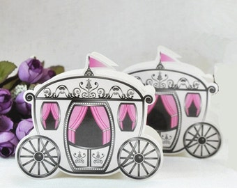 Favor Boxes Birthday Favors Cinderella Favors Princess Favors Princess Birthday Party Cinderella Carriage Boxes Party Decorations Gifts