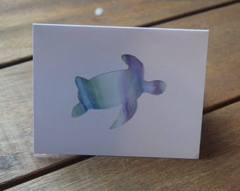 Watercolour turtle greeting card