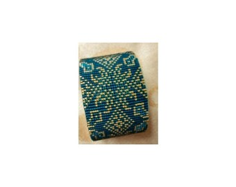 2 Patterns for 1 Price - Lacy Turquoise and Teal Bracelets - 2 Loom Bead Patterns