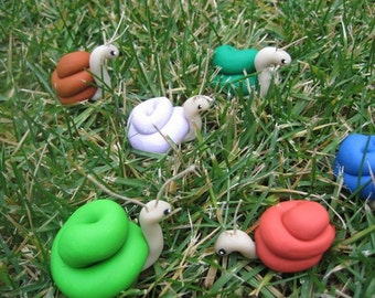Sweet Snail in your Choice of Color Perfect for Planter or Terrarium