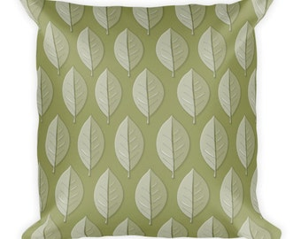 Soft Leaf Pattern Pillow