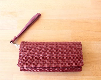 Burgundy Mexican Plastic / Leather Wallet