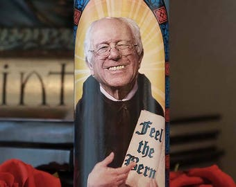 Saint Bernie Sanders Prayer Candle / Bernie for President / Feel the Bern!