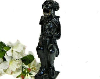 Early 19th Century Antique Carved Wood Gothic Grotesque Figure Architectural