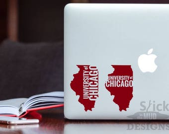 University of Chicago Permanent & Custom State Vinyl Decal
