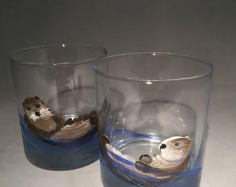 Sea Otter Whiskey Glasses -Set of 2
