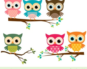 items similar to owl clip art navy blue and orange owls on rh etsy com clipart of cute owls clipart of two owls