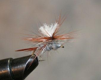 Mouche pêche - Hand-crafted Michigan pêche mouches - Parachute Adams variante - dub lapin cheveux avec Brown et Grizzly Hackle - numéro 10 crochet