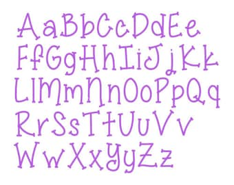 """BX FORMAT- Sizes 1"""",2"""",3"""" - Instant Download - Miss Smarty Pants  -  Embroidery Font Design 246"""