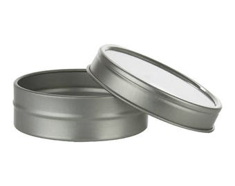 1 oz Round Clear Top Lids