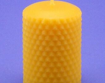Beeswax Honeycomb Pillar, 2.2 x 3, Organic Honeycomb Candle, Pure Beeswax Candle, Organic Bees Wax Cappings Candle, Home Decor Gift Idea