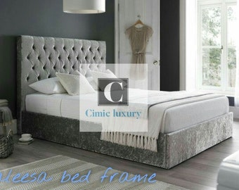 aleesa contemporary modern luxury bed frame