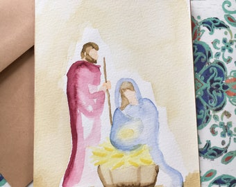 8-Pack Nativity Christmas Cards