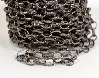 Celtic câble chaîne - argent Antique - CH76-que - choisir votre longueur
