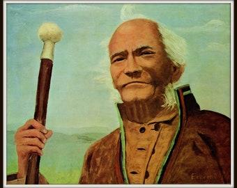 Laplander Shepard painted by Eisenhower Pl 14. Dwight Eisenhower President, D Eisenhower artist, General Eisenhower,