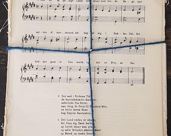 Norwegian Piano Music Sheets - Scrap Booking -  Musical Notes Paper -  Sheets Music - 40 Sheets
